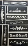 10 - 100 long pattern stencils for etching on glass dolphin butterfly hearts stars tribal